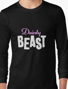 Dainty Beast (on black) Long Sleeve T-Shirt