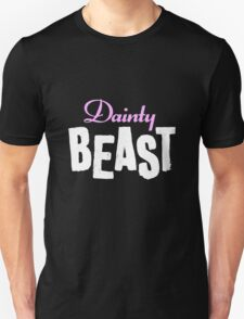 Dainty Beast (on black) Unisex T-Shirt