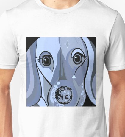 Dachshund in Blue Unisex T-Shirt
