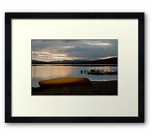 Sunrise at Lake of Two Rivers, Algonquin Park, ON Framed Print