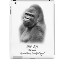 Rest in Peace, Harambe iPad Case/Skin