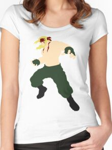 Minimalist Alex (Street Fighter Three) Women's Fitted Scoop T-Shirt