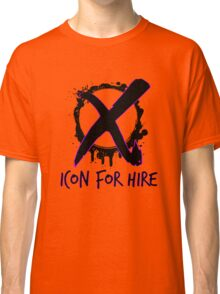 Icon For Hire XO Black Text Classic T-Shirt