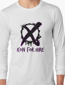 Icon For Hire XO Black Text Long Sleeve T-Shirt