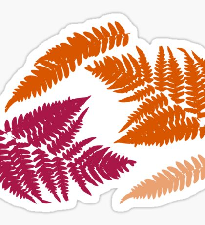 Polypodióphyta leaves Sticker