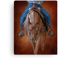 Western Rider on an Arabian Horse Canvas Print