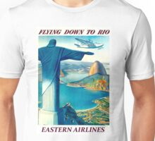 """EASTERN AIRLINES"" Fly To Rio Advertising Print Unisex T-Shirt"