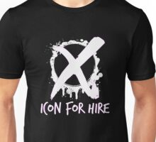 Icon For Hire XO White Text Unisex T-Shirt