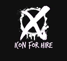 Icon For Hire XO White Text Unisex T-Shirt