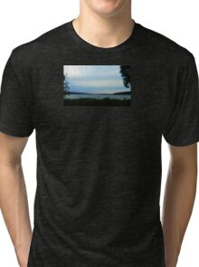 FINGER LAKES CAYUGA LAKE Tri-blend T-Shirt