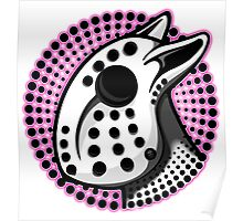 Bull Terrier Hockey Mask Pink Graphic Poster