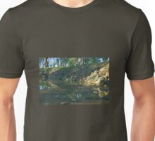 Standing in the murray river. Unisex T-Shirt