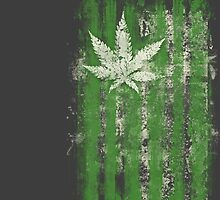 Old Green Leaf Flag by TinaGraphics