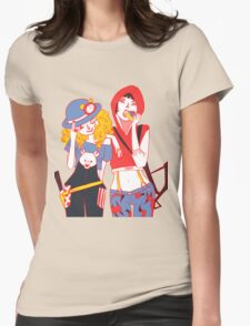 Red and Goldilocks Womens Fitted T-Shirt