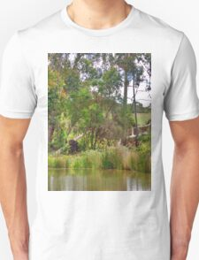 tree lined pond T-Shirt