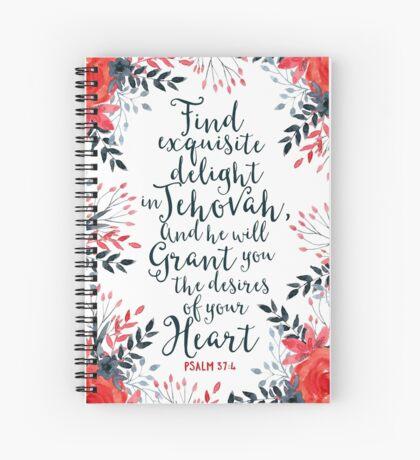 PSALM 37:4 Spiral Notebook
