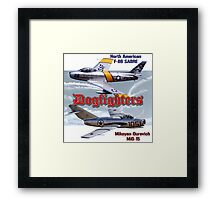 Dogfighters: F-86 vs MiG-15 Framed Print