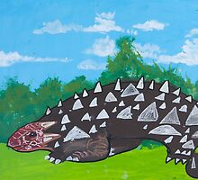 'Ankylosaurus' by Nate Walden (2016) by Peter Evans Art