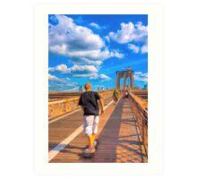 Lazy Days on the Brooklyn Bridge Art Print