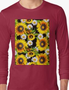 Sunflowers and Daisies Long Sleeve T-Shirt