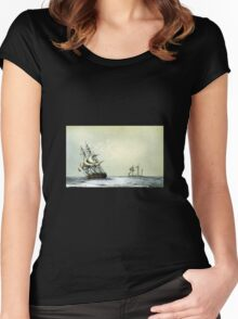 "The ""Resolute"" Under Sail For The Last Time (1853) Women's Fitted Scoop T-Shirt"