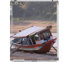 Marooned boat, Nam Khan River iPad Case/Skin