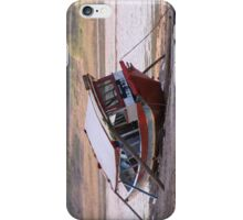 Marooned boat, Nam Khan River iPhone Case/Skin