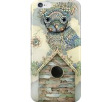 Blue Owl Birdhouse II iPhone Case/Skin