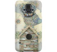 Blue Owl Birdhouse II Samsung Galaxy Case/Skin