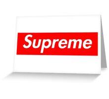 SUPREME Greeting Card
