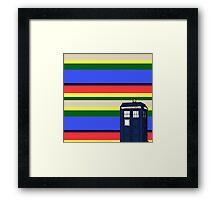 Tom Bakers TARDIS Framed Print
