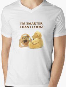 SMART BEAR Mens V-Neck T-Shirt