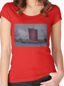 The Dragon Harald Harfagre at Toronto's Harbourfront Women's Fitted Scoop T-Shirt