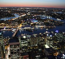 Sydney, Australia, dusk from the air by Matthew Taylor