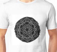 Black Brush Mandala Unisex T-Shirt
