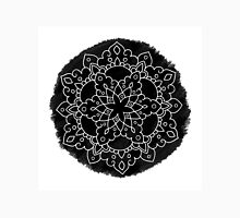 Black Brush Mandala Unisex T-Shirt