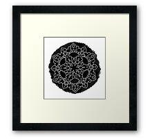 Black Brush Mandala Framed Print