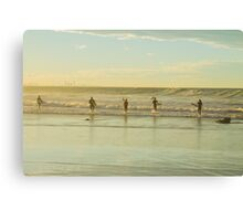 Into the line up Canvas Print