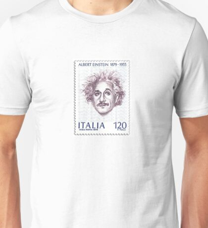 Postage Stamp Genius:  Albert Einstein Unisex T-Shirt