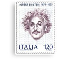 Postage Stamp Genius:  Albert Einstein Canvas Print