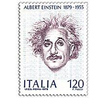 Postage Stamp Genius:  Albert Einstein Photographic Print