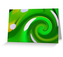 Catch a Wave - Green Yellow Greeting Card