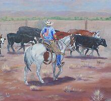 All American Cowboy by EllieTaylorArt