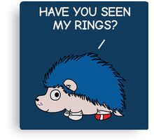 Have you seen my rings? Canvas Print