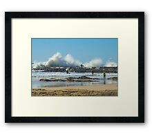 Waves of Fury Framed Print