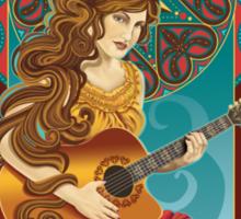 Acoustic Girl Sticker