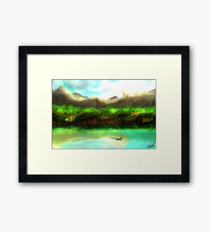 Lake Environment Framed Print