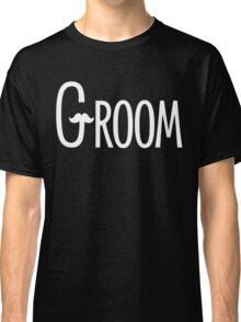 Groom Mustache in White Classic T-Shirt