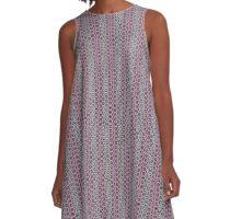 Geometric floral repeat pattern A-Line Dress