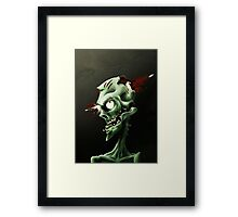 Aim for the Head - drk Framed Print